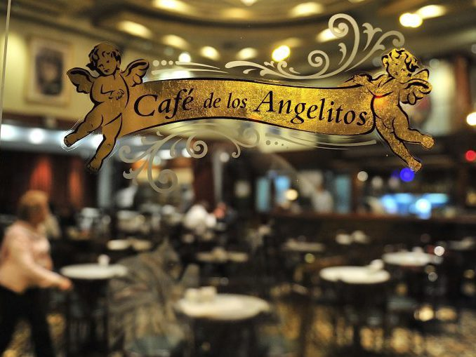 Buenos Aires, Argentina, - May. 6 . 2012: Old cafe in the historical neighborhood of Buenos Aires